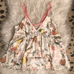 E by Eloise Printed Babydoll Camisole